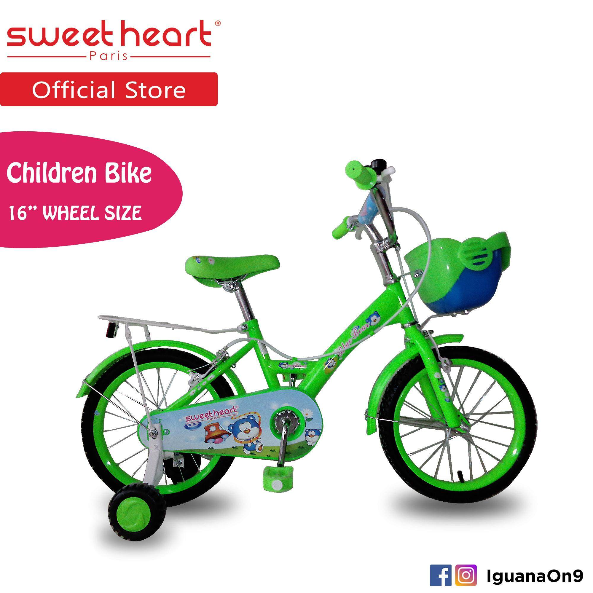 Sweet Heart Paris CB1601 BLUE BEAR (Green) Children Bike with Caliper Brake