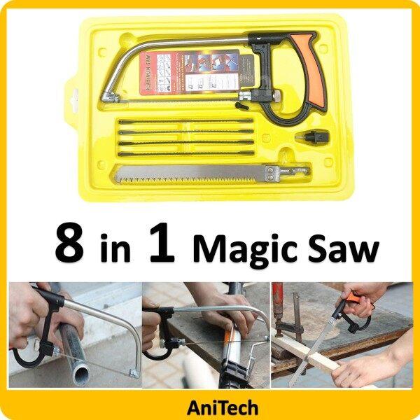 8 in 1 Multifunctional Saw Mini Hand Saw Hack Saw Magic Saw Set Blade Gegaji Kayu PVC Besi Gelas