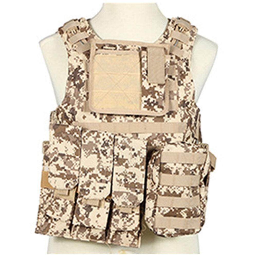 SilyNew Molle Military Outdoor Sports Protective Combat Vest,Field Waterproof Oxford Cloth Tactical Vest,Camouflage Amphibious Tactical Safety Protection Vest