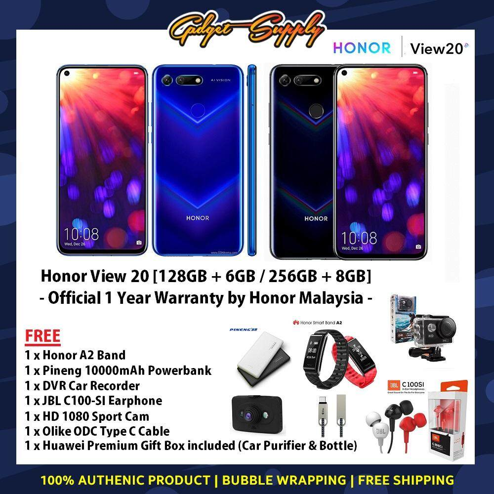 Honor View 20 (Malaysia Set) with Premium Gifts [128GB + 6GB, 256GB + 8GB  RAM] Ready stocks! 1 Year Warranty by Honor Malaysia