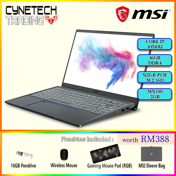 [NEW ARRIVAL] MSI Prestige 14 A10RAS-087 (Core i7-10510U,16GB,512GB NVMe,MX330 2GB,14Full-HD IPS,Win 10)1.29KG Malaysia