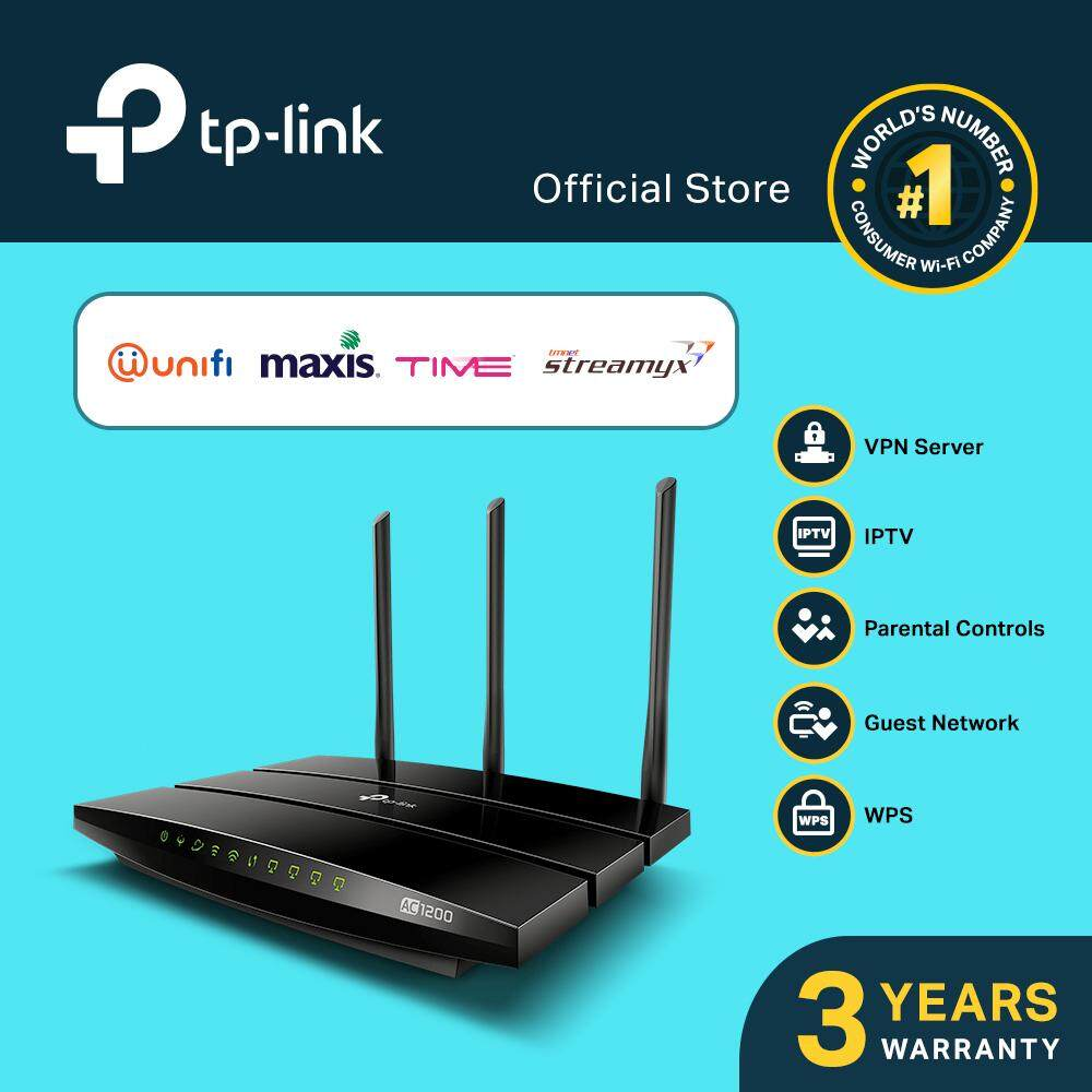 Tp-Link Ac1200 Wireless Vdsl/adsl Modem Router, Archer Vr400 ( Support Unifi / Maxis / Time / Streamyx ) By Tp-Link Malaysia.