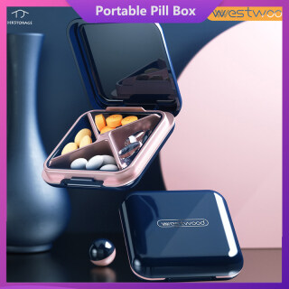 HKStorage Hộp đựng thuốc cỡ nhỏ có nắp đậy và có ngăn chia tách - INTL thumbnail