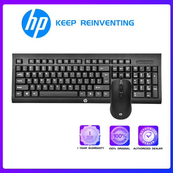 HP KM100 Keyboard and Mouse Combo Set USB Wired 104 Keys Membrane Water-Proof Keyboard And 1600DPI Mouse for Computer PC laptop