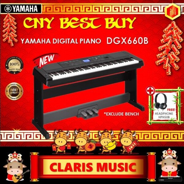 YAMAHA DIGITAL PIANO (MODEL: DGX660 B) NEW UNIT! Malaysia