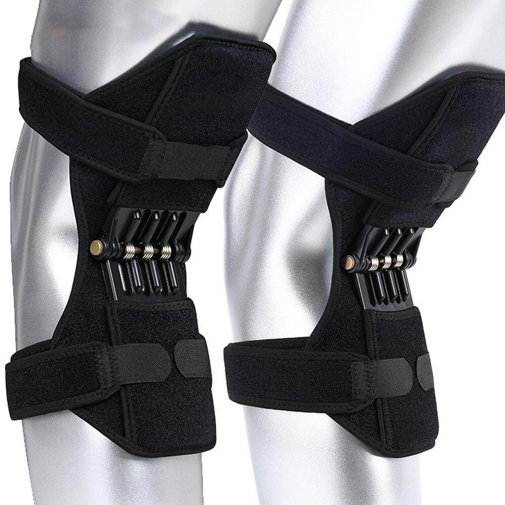 1 Pair Joint Support Knee Pads Breathable Non-slip Power Joint Support Knee Pads Powerful Rebound Spring Force Knee Booster  Lift Sports Safety Women Men