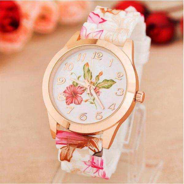 LKJ Women Girl Watch Silicone Printed Flower Causal Quartz WristWatches PK watch for women sale original new best seller Malaysia