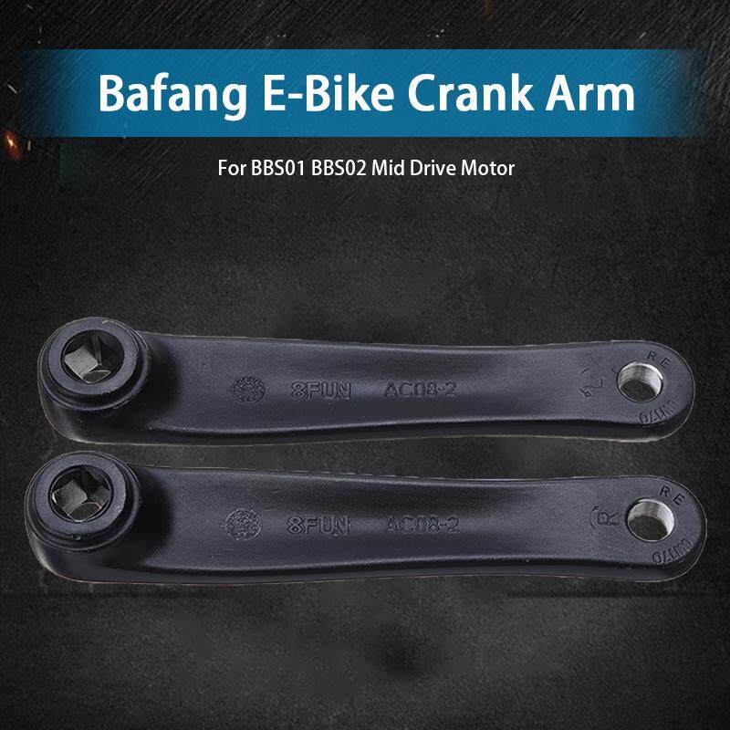 Bafang E-Bike Crank Arm 8Fun BBS01 BBS02 Mid Drive Motor 170mm Black//Sliver