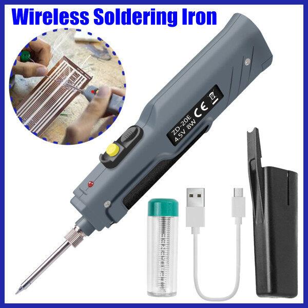 4.5V 8W Chạy Bằng Pin Sạc USB Không Dây Mỏ Hàn Hàn Sắt Bút Công Cụ Hàn Điện Tử