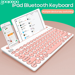Goojodoq Bàn Phím Bluetooth Không Dây Kết Nối Đa Thiết Bị Ipad Máy Tính Điện Thoại Di Động Bàn Phím Di Động Siêu Mỏng thumbnail
