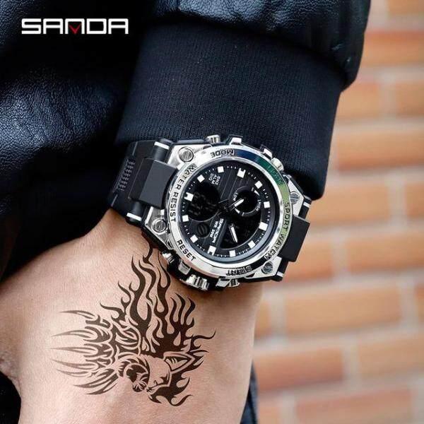 Nơi bán SANDA 739 Đồng hồ đeo tay thạch anh không thấm nước kiểu dáng sang trọng mang phong cách quân đội dành cho nam - INTL