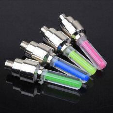 1 Cái/2 Cái LED Neon Đèn Flash Đèn Xe Đạp Lốp Lốp Bánh Xe Van Niêm Phong Mũ
