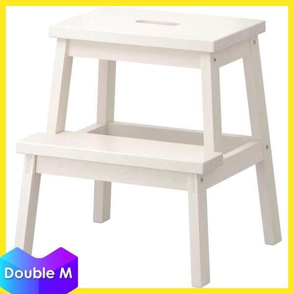 IKEA BEKVAM Wood 2 Steps Stepladder Stool - 50 cm (White / Black)