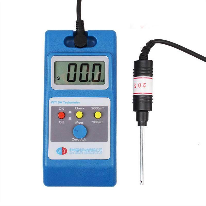 Digital LCD Gaussmeter Tesla Meter w//Ns Fluxmeter Surface Magnetic Field Tester