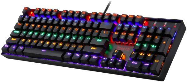 Redragon K551 Mechanical Gaming Keyboard RGB LED Rainbow Backlit Wired Keyboard with Green axis 104 Keys Compatible with windows 10/ 8/ 7 / vista/ xp Singapore