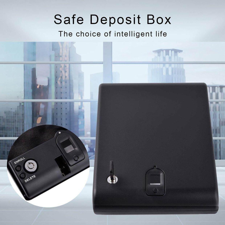 Hot Deals Portable Safe Fingerprint Box Keybox Strongbox for Valuables Jewelry Cash