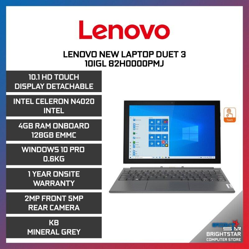 Lenovo New Laptop Duet 3 10IGL 82H0000PMJ (10.1 Inch HD Touch / Intel Celeron N4500 / 4GB RAM / Intel Graphic / Windows 10 Pro / 1 Year Warranty) Malaysia