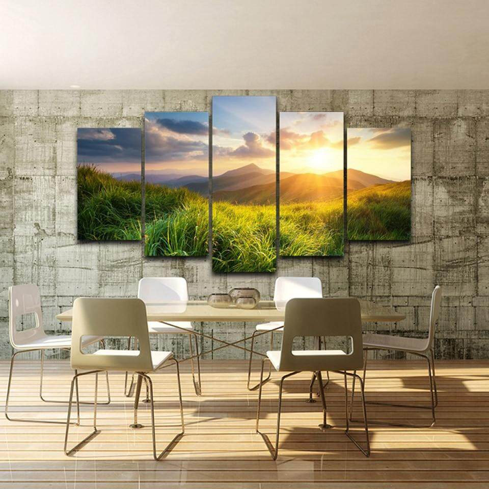 Mountains Valley CANVAS PRINT Wall Decor Art Giclee Nature Scenery 4 Sizes