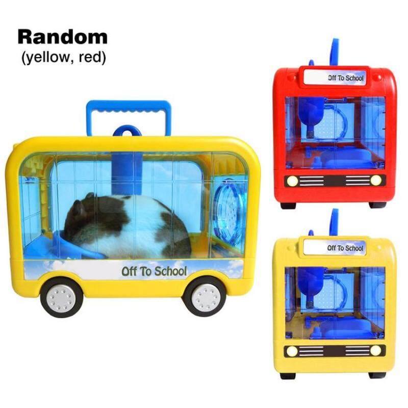 Môi trường sống động vật nhỏ Lồng hamster di động nhỏ gọn có tay cầm cho hamster chinchillas màu sắc ngẫu nhiên