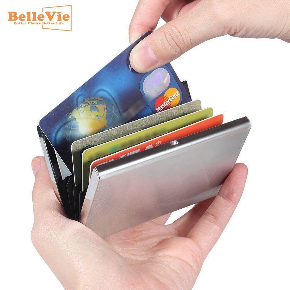Bllevie RFID Wallet Money Clip Mens Leather Slim Blocking Credit Card ID Holder Black | Lazada PH