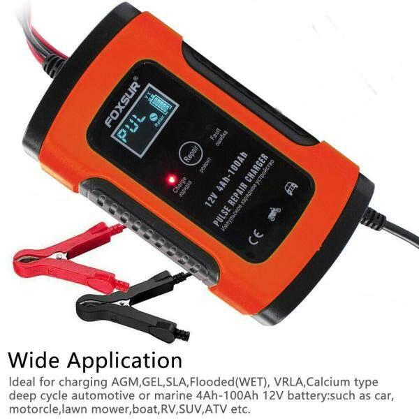 Sạc Pin Xe Hơi, Sửa Chữa Xung Xe Máy Ô Tô Thông Minh LCD 12V 5A
