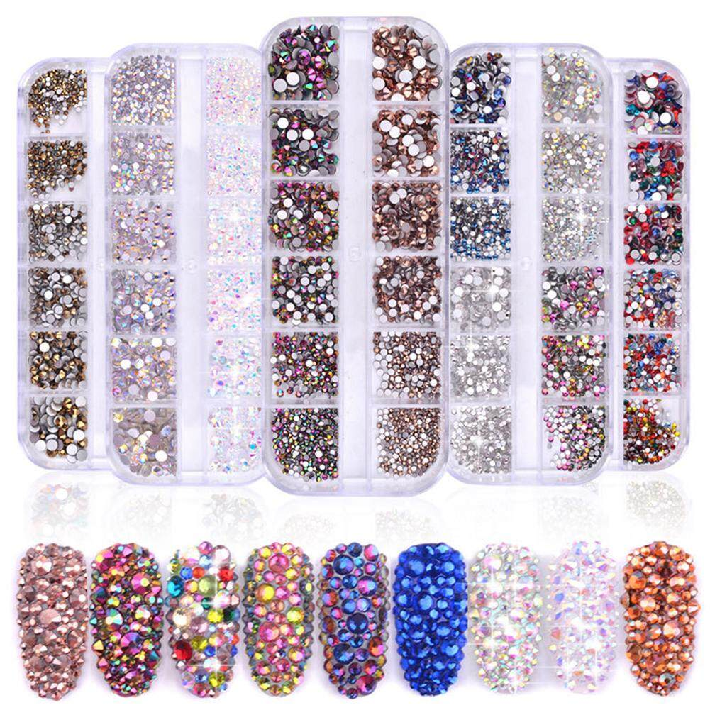 BLY 1440pcs Mixed Nail Flat Drill Nail Art AB Rhinestone Decorative Shiny DiamondNail Art AB Rhinestones Philippines