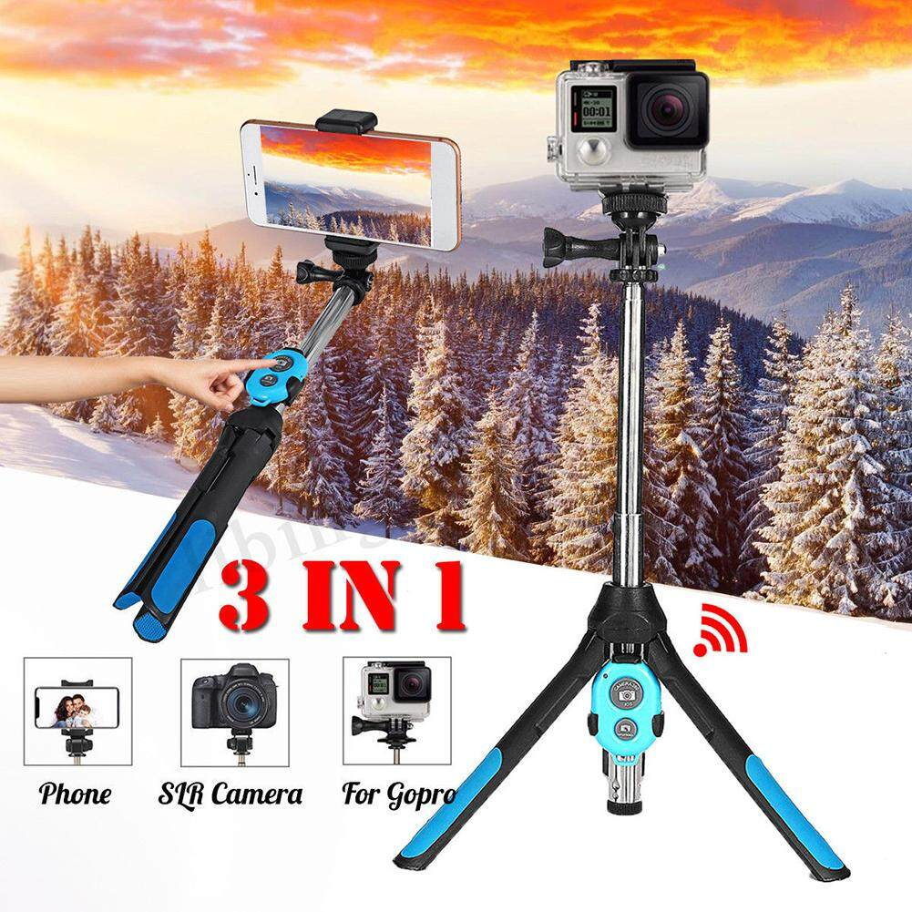 Portable Extendable Monopod Selfie Stick Tripod Bluetooth Remote For Phone Camera Gopro By Chesy.