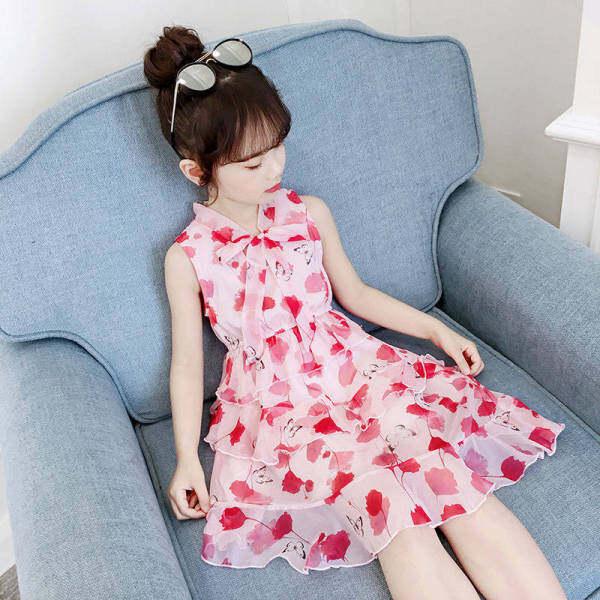 Giá bán Forher FORHIM Trẻ Em Voan Cho Bé Gái Mới Thời Trang Đầm Công Chúa Cho Bé Gái Thời Trang Bánh Váy Mùa Hè 2020 KE200049