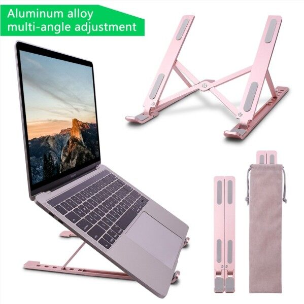 GOOJODOQ Laptop Stand for MacBook Pro Foldable Laptop Stand Aluminum Alloy Tablet Stand Holder Bracket Laptop Notebook Holder for iPad
