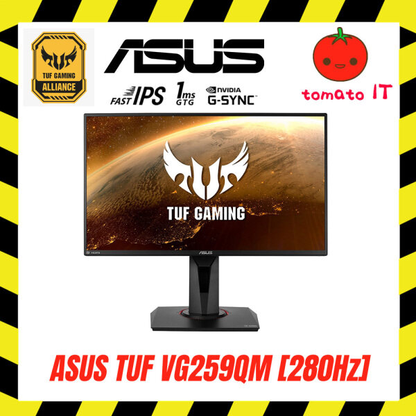 Asus TUF VG259QM 24.5 Wide Screen Gaming Monitor, Full HD, Fast IPS, Overclockable 280Hz, 1ms (GTG), G-SYNC Compatible Malaysia