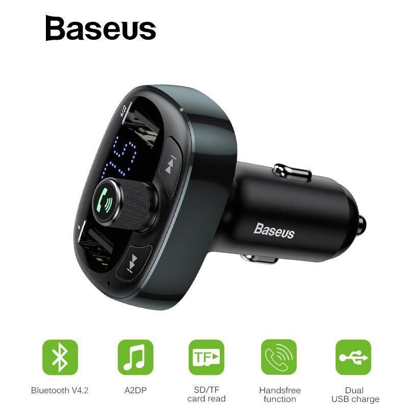 US Bluetooth 4.2 Dual USB Car Charger FM Transmitter MP3 Player 3.1A TFCard AUX