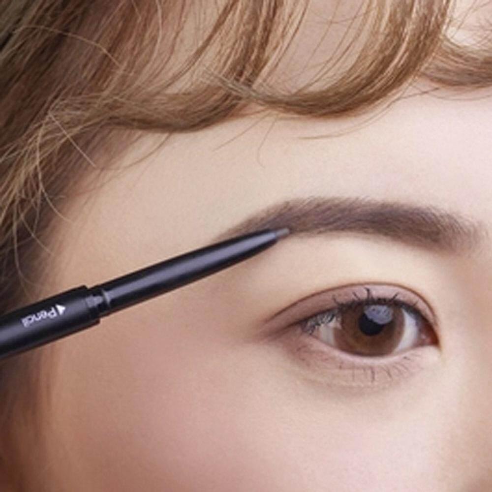 [ของขวัญฟรี] คิ้วเปลี่ยนทิศทางอัตโนมัติดินสอเขียนขอบตากันน้ำและเหงื่อ-proof ไม่ได้เบ่งบานสีดำสีกาแฟ