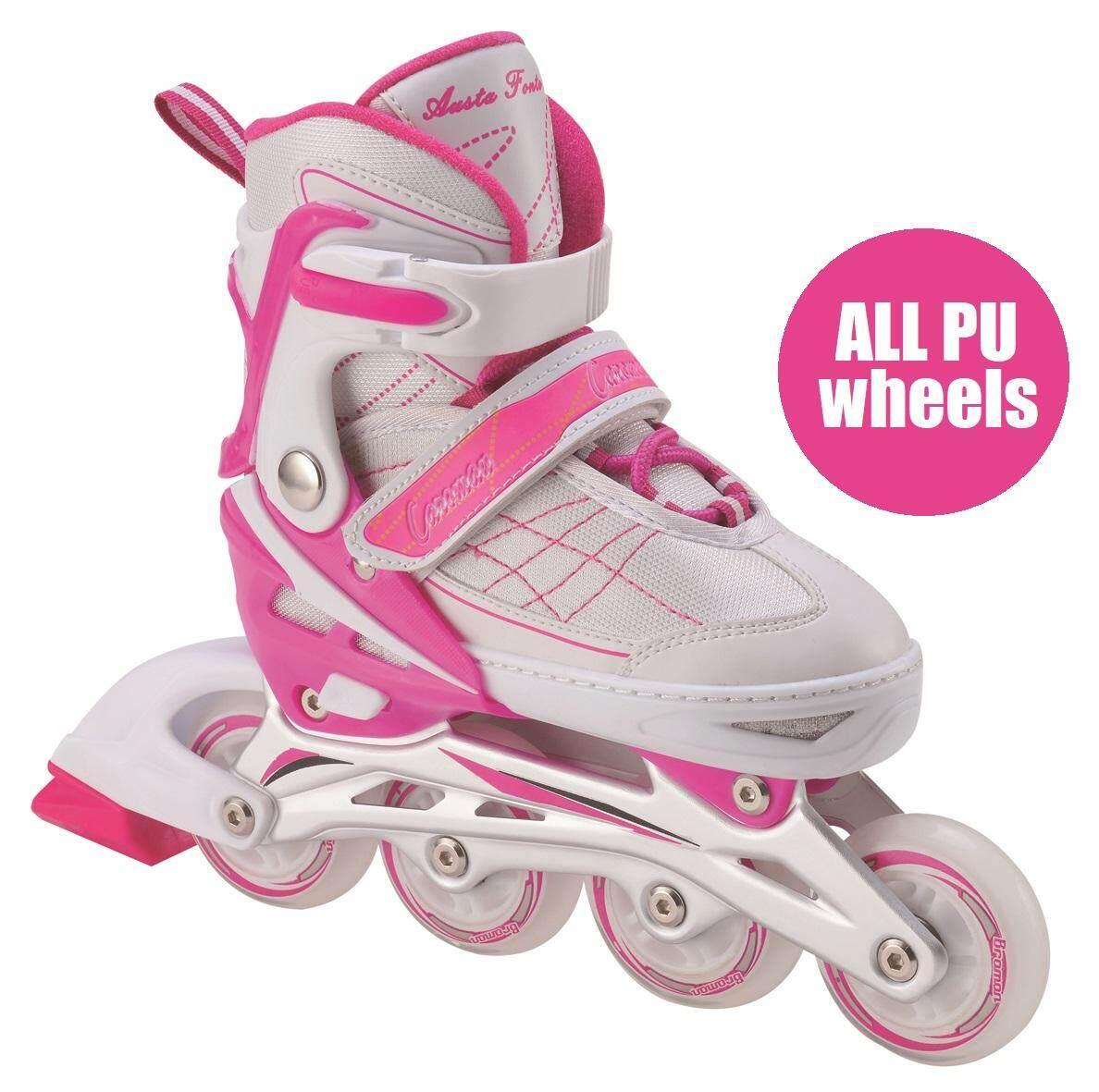 Kids   Adult Rollerblade Inline Skate + PU Flash Wheel Adjustable Shoe  Roller Blade Kasut Roda 7396d9f063