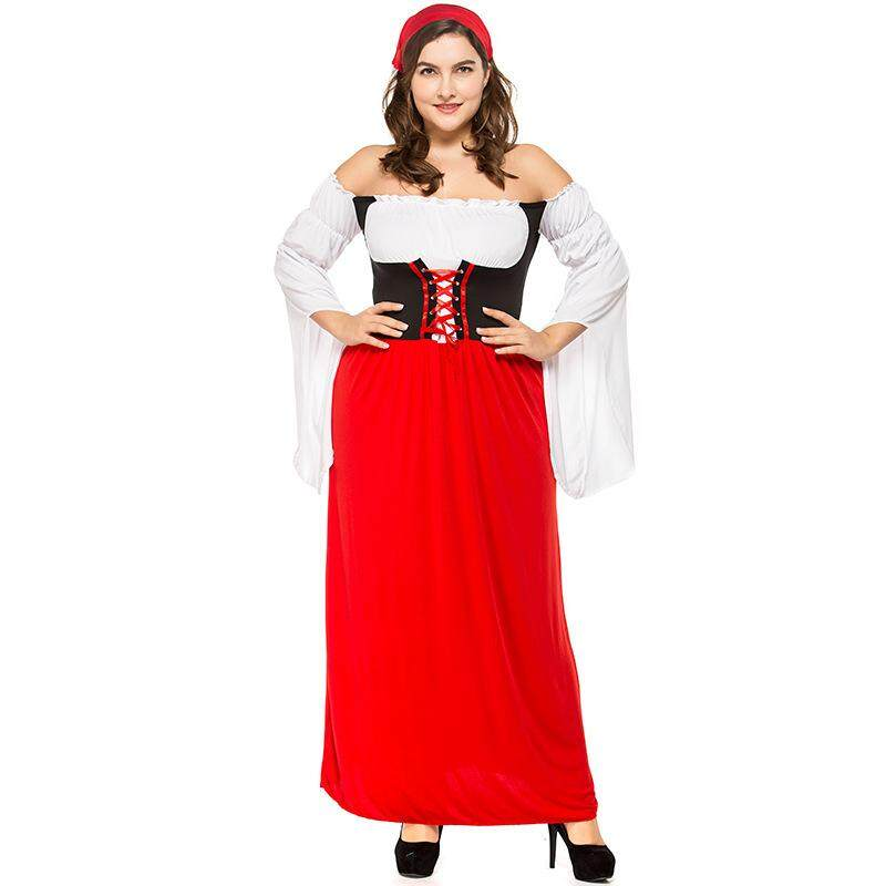 Dolaplay Brand German Big Red Long Beer Festival Clothing Fat Adult Adult Women's Beer Clothing Pirate Clothing