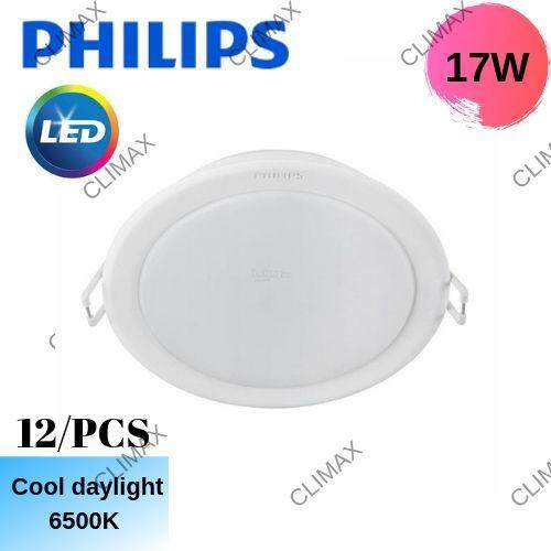 12/PCS Philips Meson Essential (59466) 17W Led Downlight 1280Lm 6500K (Cool  Daylight) (Round)