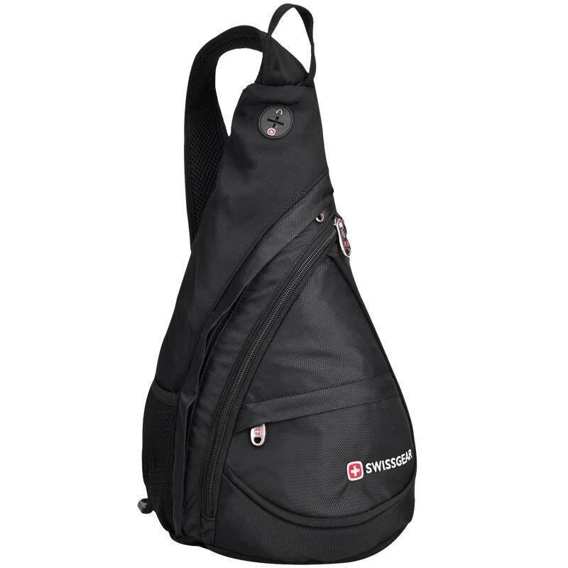 SwissGear Chest Pack SA9966 Model 10 inch IPad Waterproof Crossbody & Shoulder Bags for Men and Women (Black)