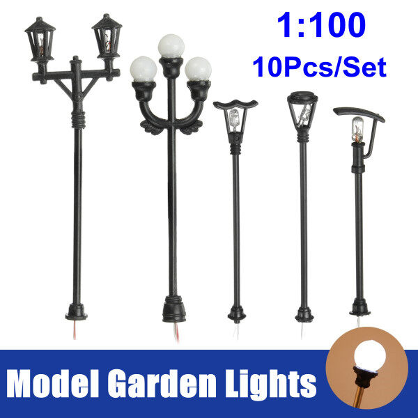 Bảng giá Mô Hình Đèn Sân Vườn Tỷ Lệ 1:100 HO, Đèn Đường LED Cột Đèn Xây Dựng Phong Cảnh Tự Làm