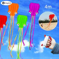 Diều Bạch Tuộc Lớn JingleR, Với Dây Tay Cầm 30M Diều Trẻ Em, Đồ Chơi Diều Bay Thể Thao Lướt Sóng Ngoài Trời