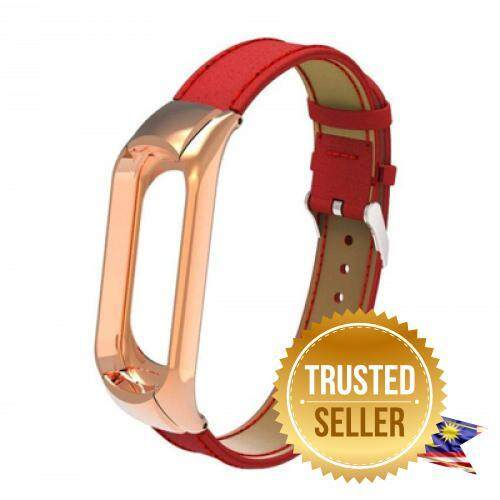 Adjustable Lightweight Fashion Pattern Leather Strap for Xiaomi Mi Band 3 (RED) Malaysia
