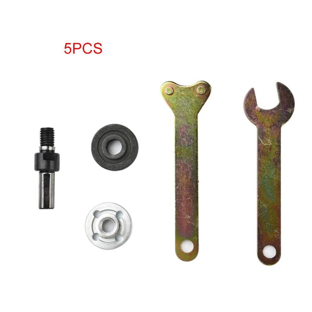 Electric Drill Variable Angle Grinder Mandrel Adapter Disc Holder Kit Spanner Polish Wheels Set