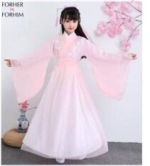 Bộ Trang Phục Cổ Trang Cho Bé Gái FORHER, Đầm Tang Đầm Cổ Tích Trung Quốc Phong Cách Mùa Thu 2020 FHKE200267
