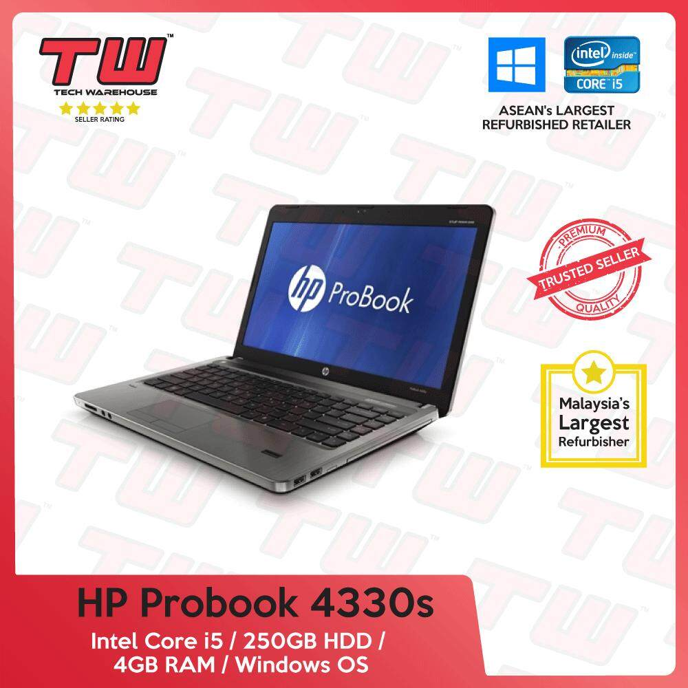 HP Probook 4330s Core i5 / 4GB RAM / 250GB HDD / Windows OS Laptop / 3 Months Warranty (Factory Refurbished) Malaysia