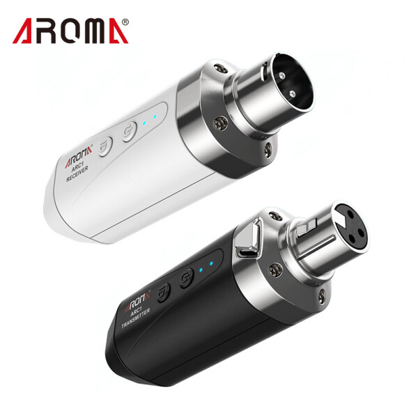 AROMA ARC1 Microphone Wireless Transmission System(Transmisster & Receiver) 4 Channels Max. 35m Effective Range XLR Connection Malaysia