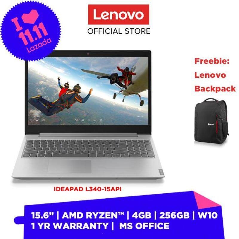 NEW MODEL] LENOVO LAPTOP NOTEBOOK IDEAPAD L340-15API 81LW0091MJ PLATINUM GREY 15.6 INCH AMD RYZEN 3 3200U 4GB 256GB W10 HOME MS OFFICE HOME & STUDENT PREINSTALLED 2 YEARS WARRANTY FREE BACKPACK Malaysia
