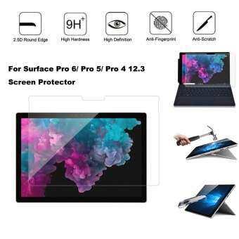 Ultra Slim 9 H กระจกเทมเปอร์ปกป้องหน้าจอสำหรับ Surface Pro 6/5/4 12.3 นิ้ว