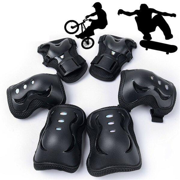 6 cái khuỷu tay Miếng đệm đầu gối xe đạp xe máy thiết bị bảo vệ Bộ bóng rổ Miếng đệm đầu gối trượt băng thể thao kneepad Brace hỗ trợ bảo vệ