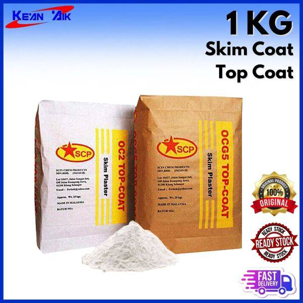 1KG Repacked Skim Coat Top Coat (White) / Skimcoat Halus