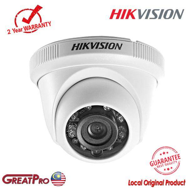Hikvision 1mp Turbo Hd 720p 4in1 Ahd/cvi/tvi/cvbs Indoor Ir Dome Camera (ds-2ce56c0t-Irpf)-Greatpro By Greatpro Trading.