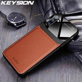 Bao Da KEYSION Dành Cho Samsung Galaxy Note 10 10 Plus Ốp Lưng Điện Thoại Chống Sốc Silicon Mặt Kính Tráng Gương Cho Samsung Note 9 8 thumbnail