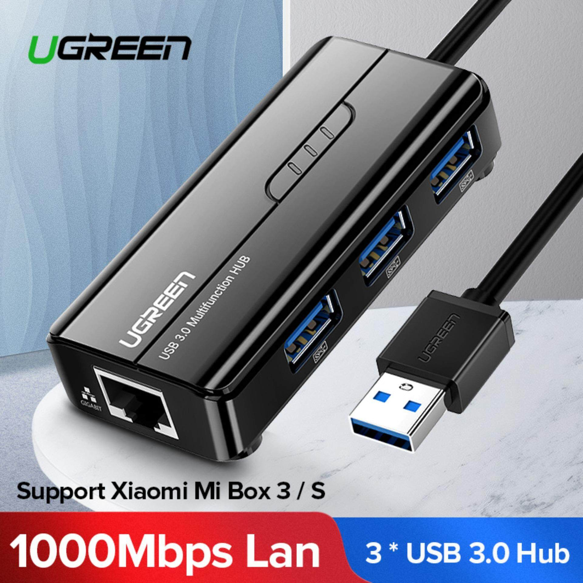 Ugreen Ethernet Adapter Usb Gigabit Network Adapter 10/100/1000mbps/1 Gbps With Usb 3.0 Hub 3 Ports For Nintendo Switch, Wii,xiaomi Box,windows Surface Pro, Macbook Air/retina, Imac Pro, Chromebook, And More Pc By Ugreen Flagship Store.
